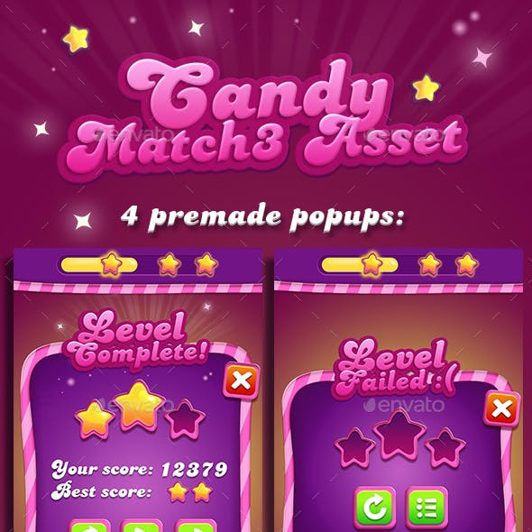 Candy Match-3 GUI