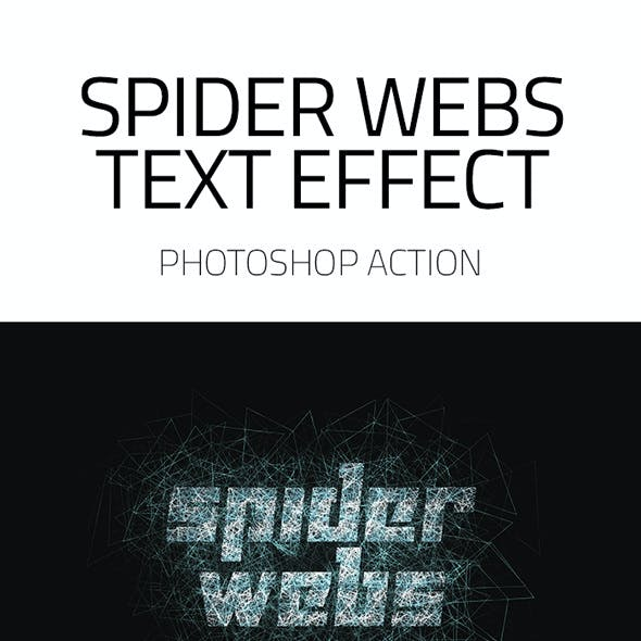 Spider Webs Text Effect Photoshop Action