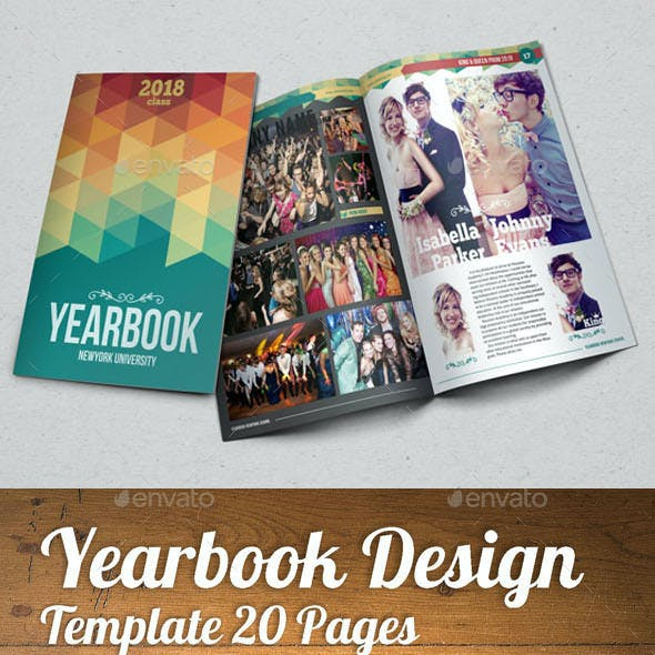 YEARBOOK TEMPLATE DESIGN VOL 1