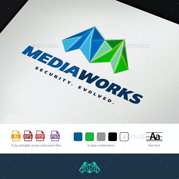 Media Works Logo Template
