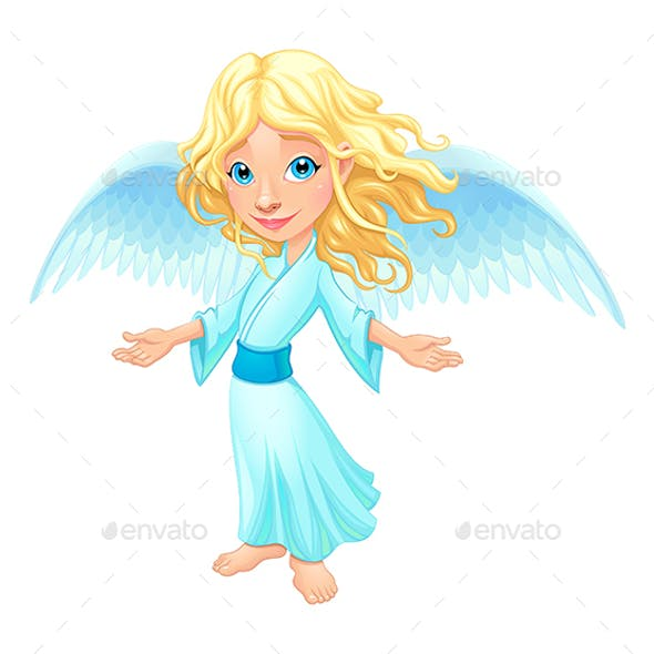 Smiling Angel with Wings