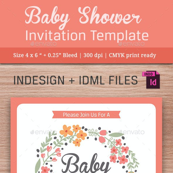 Baby Shower Template - Vol. 11