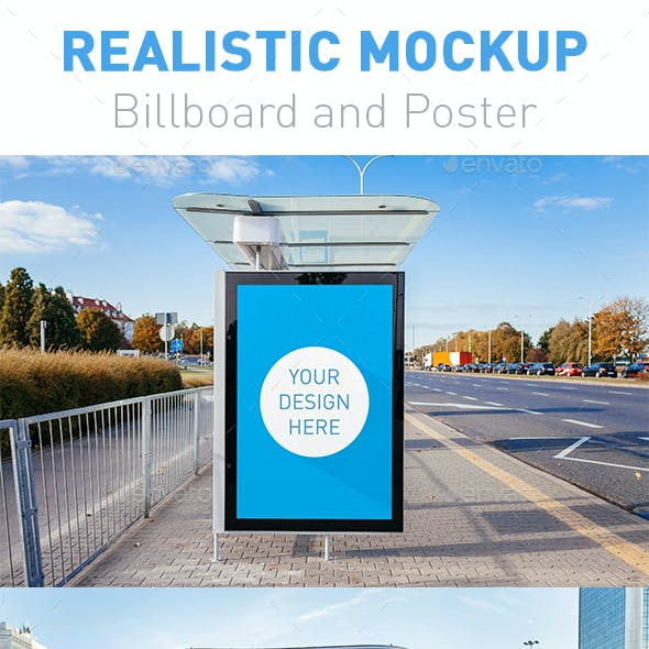 5 Realistic Billboard and Poster Mockup