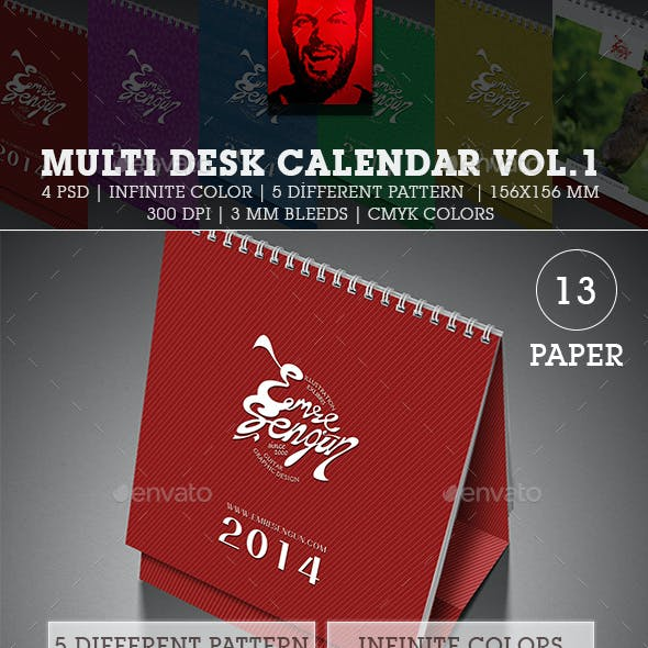 2016 Multi Desk Calendar Vol.1