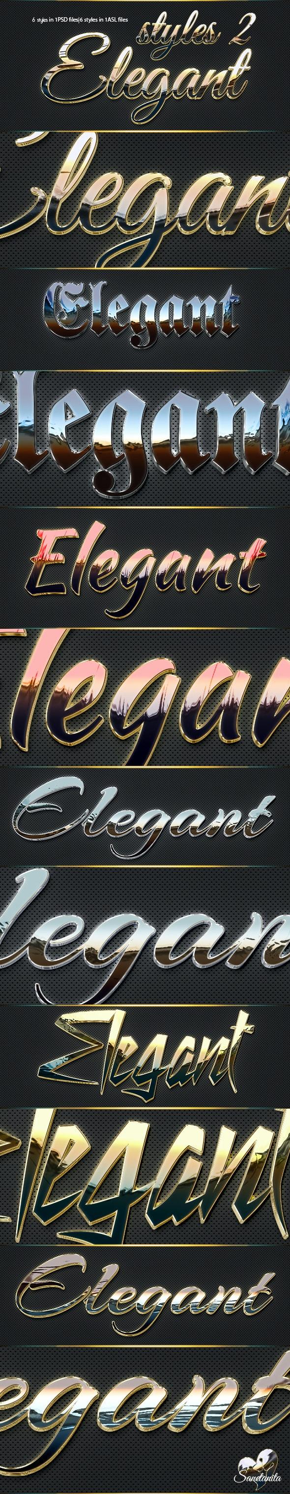 3D Elegant Styles 2 - Text Effects Styles