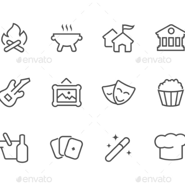 Outline Event Icons.