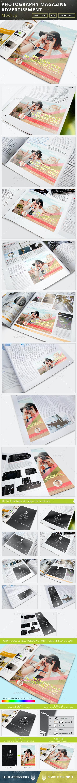Photography Magazine Advertisement Mockup - Magazines Print