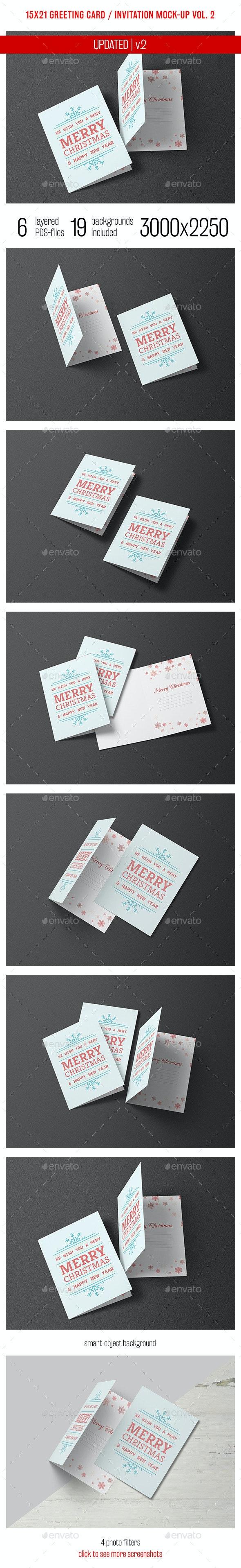 Greeting Card and Invitation Mockup Vol. 2 - Miscellaneous Print