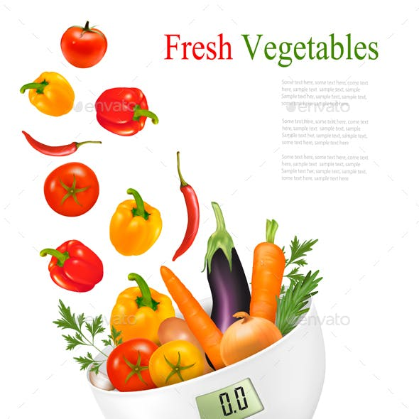 Fresh Vegetables With In A Weight Scale Diet