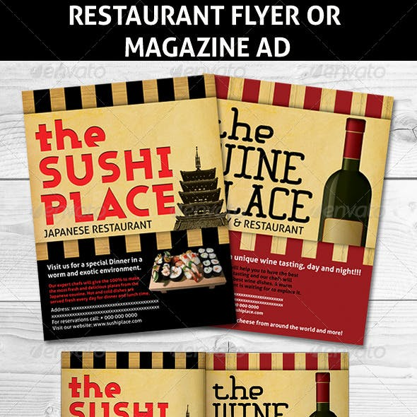Restaurant Magazine Ads or flyer