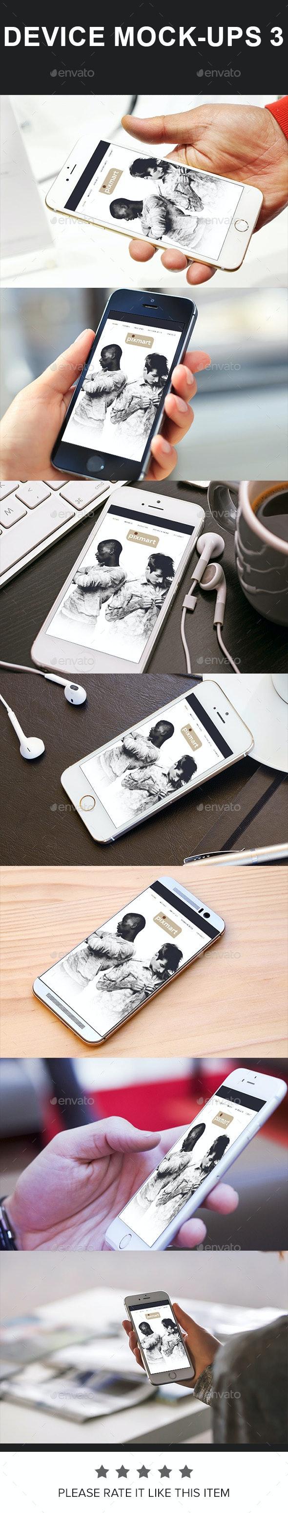 Mobile Mockups - Mobile Displays