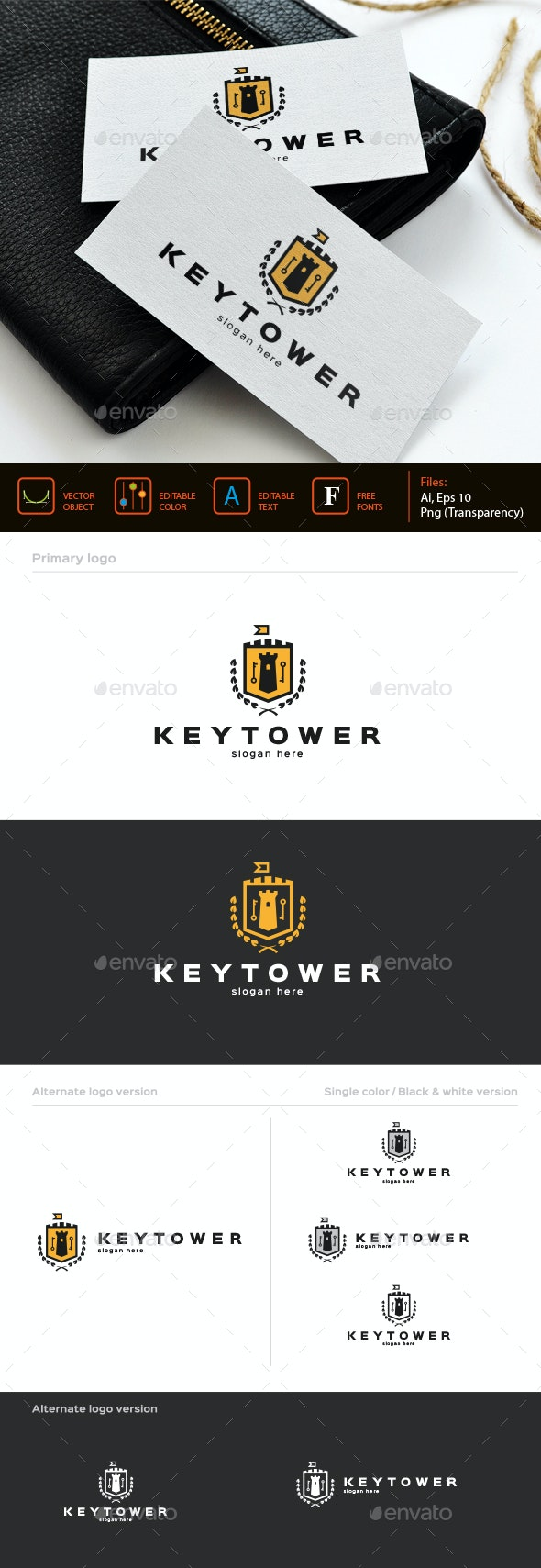 Key Tower Logo template