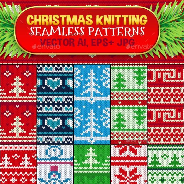 Christmas Seamless Knitting Pattern Set