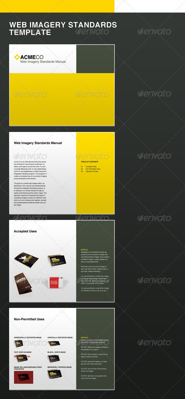 Web Imagery Standards Guide Template - Miscellaneous Print Templates