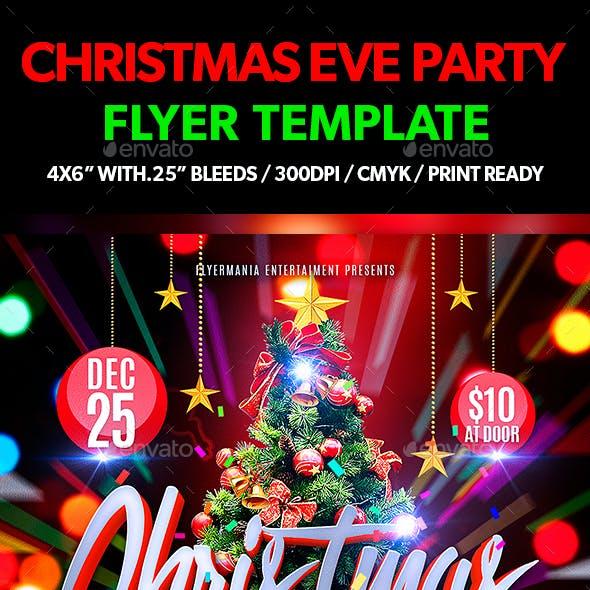 Christmas Eve Party Flyer Template