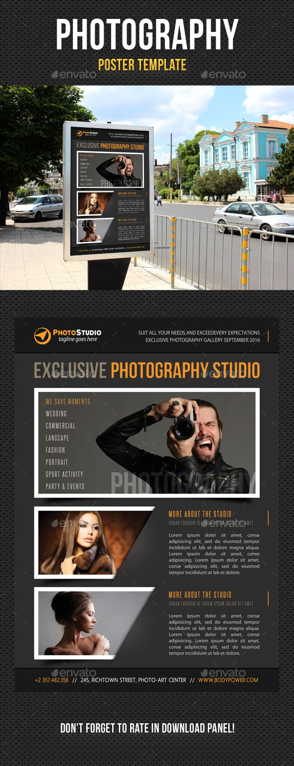 Photography Poster Template V01