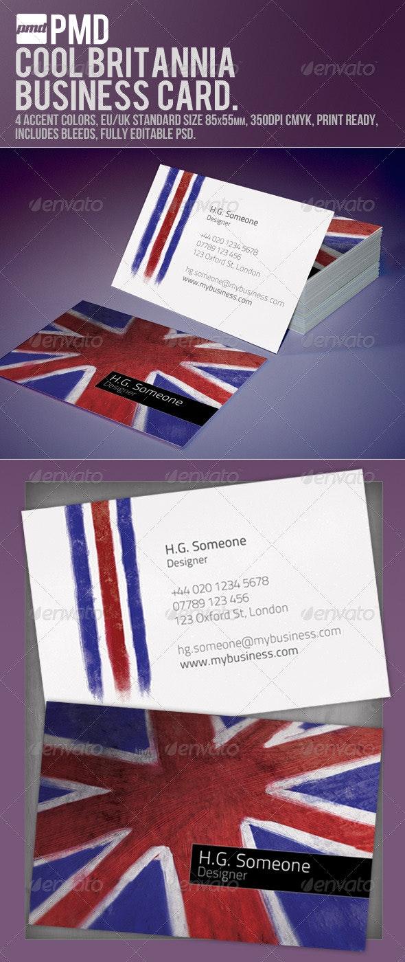 Cool Britannia Business Card - Creative Business Cards