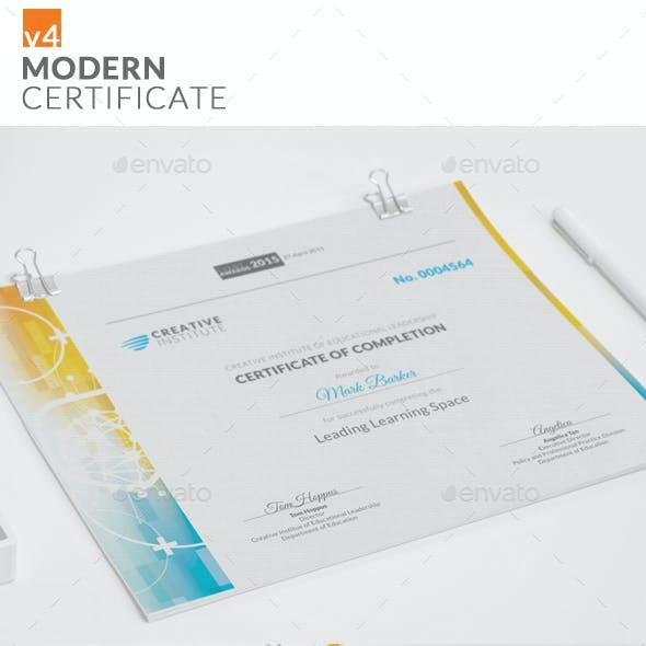 Modern Certificate v4