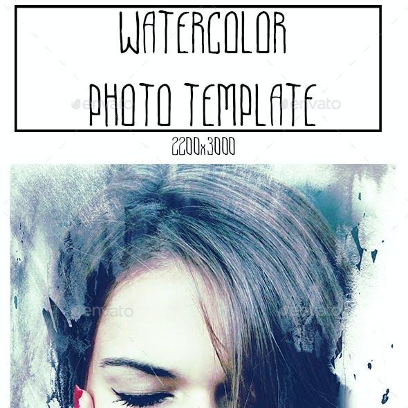 Watercolor Photo Template