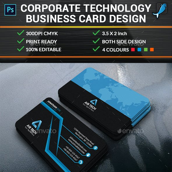 Corporate Technology Business Card Design