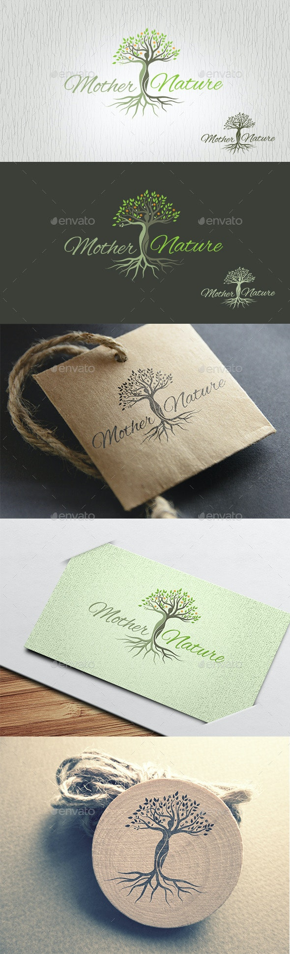 Mother Nature Logo - Nature Logo Templates