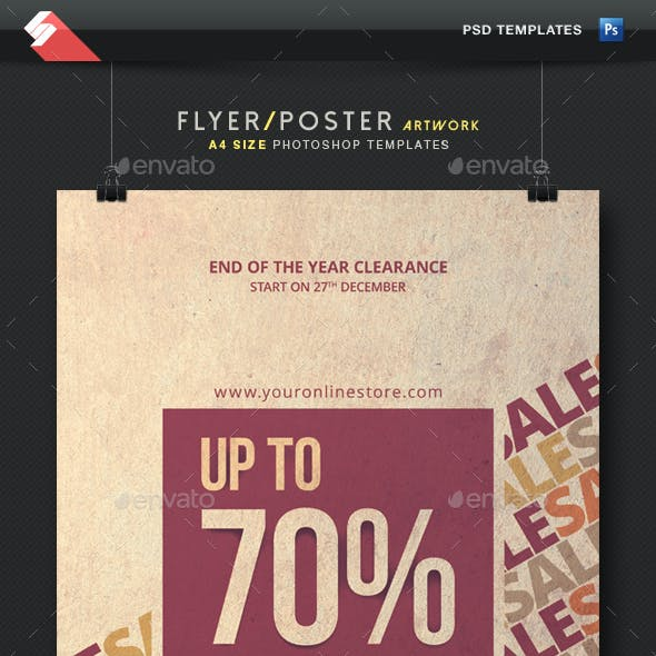 Sale Off - Discount Flyer Template A4