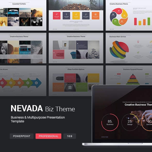 Nevada Business Theme - Business PowerPoint Templates