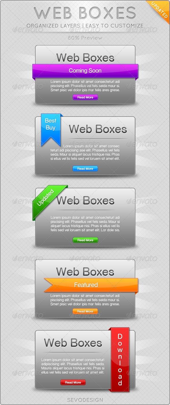 Web Boxes - Web Elements