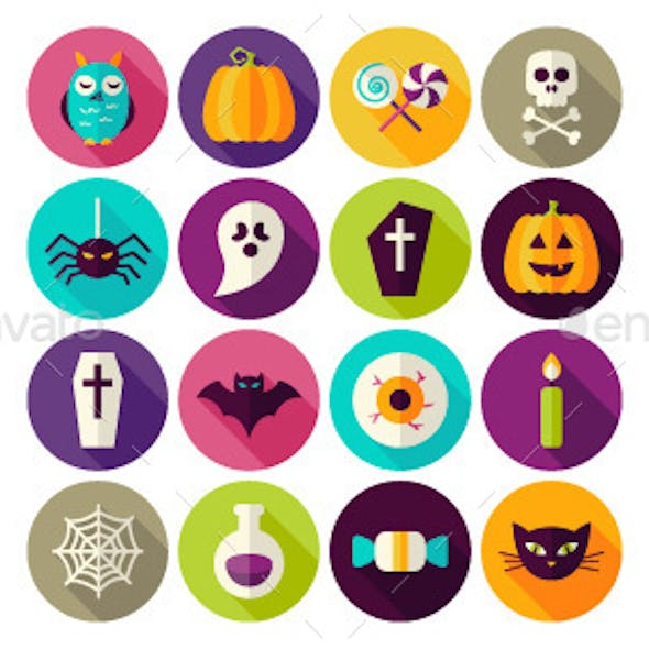Halloween Scary Flat Icons