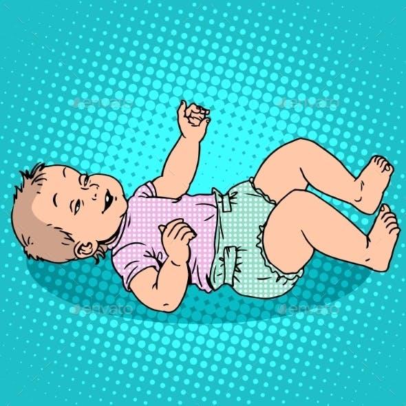 Joyful Kid In The Diaper
