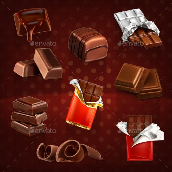 Chocolate Bars and Pieces