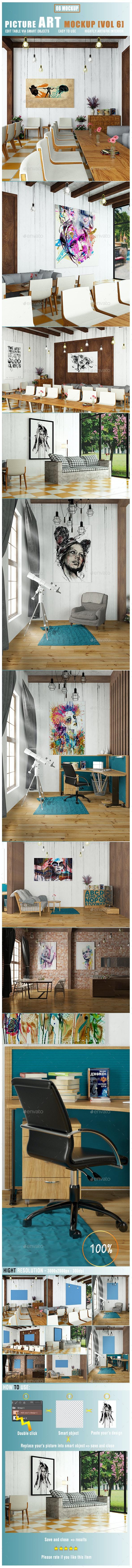 Picture Art Mockup [Vol 6] - Posters Print