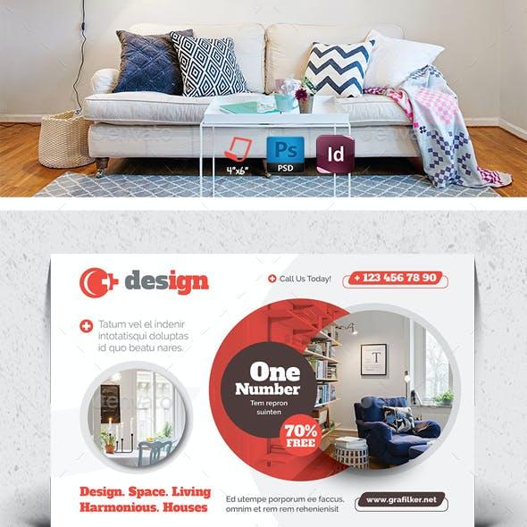 Interior Design Postcard Templates