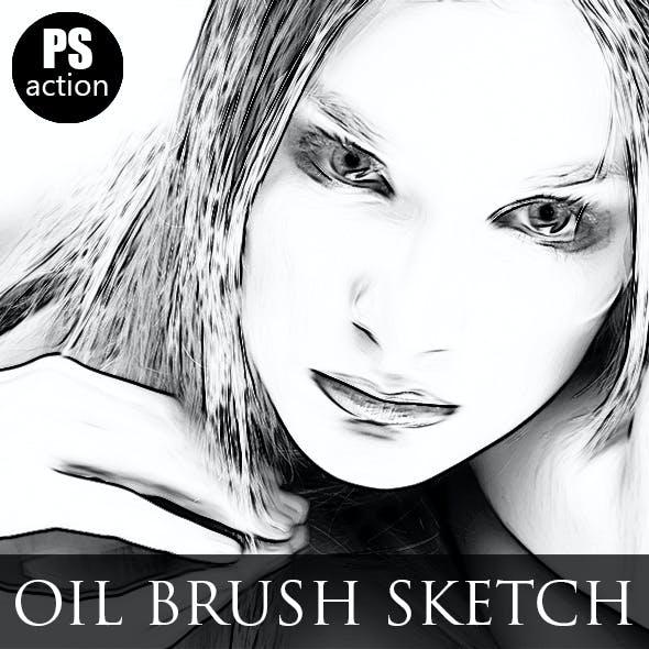 Oil Brush Sketch Paint Effect