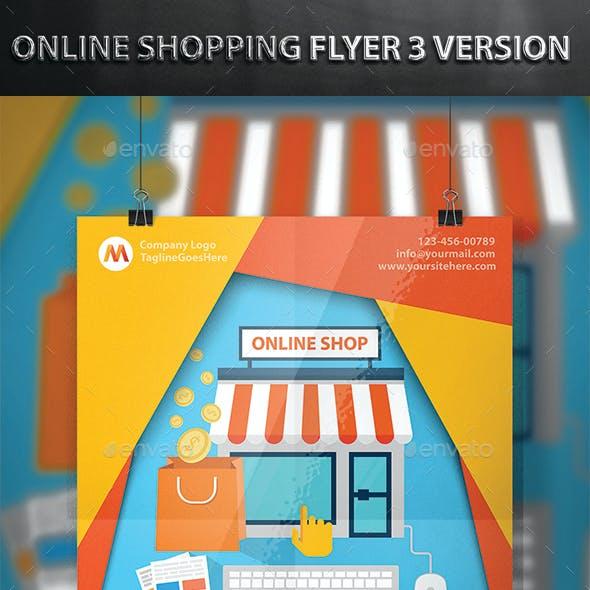 Online Shopping Flyer 3 Version