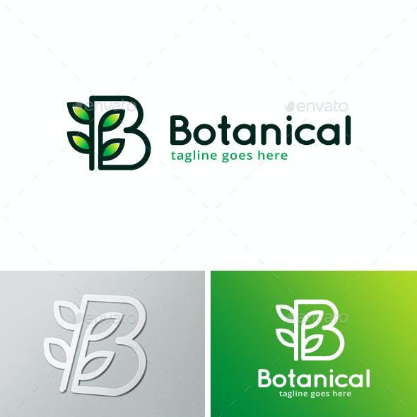 Botanical Letter B Logo