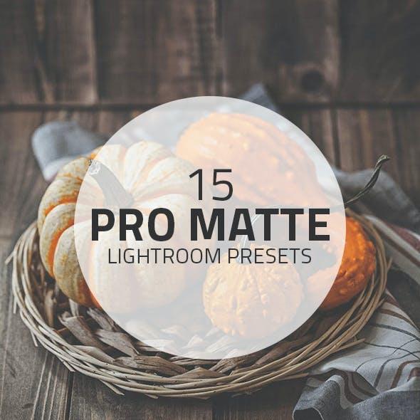 15 Pro Matte Lightroom Presets