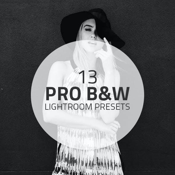 13 Pro Black&White Lightroom Presets