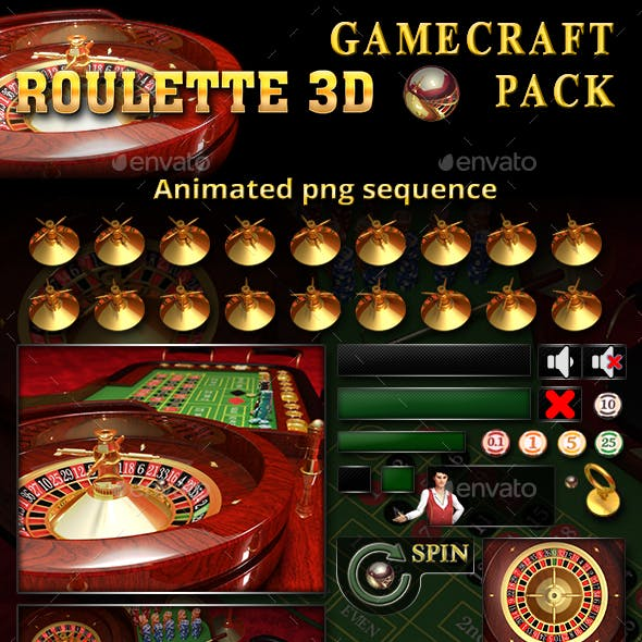 3D Roulette Game Assets