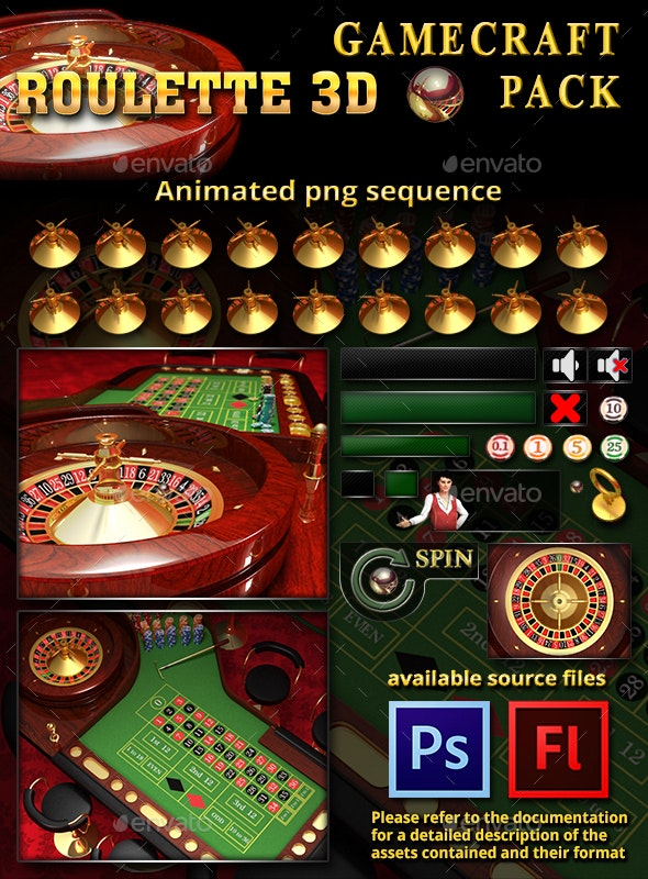 3D Roulette Game Assets - Game Assets