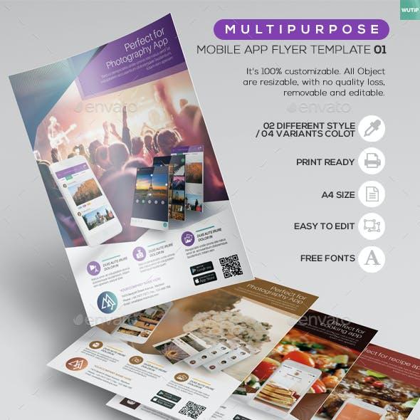 Multipurpose/ Mobile App Flyer Template01