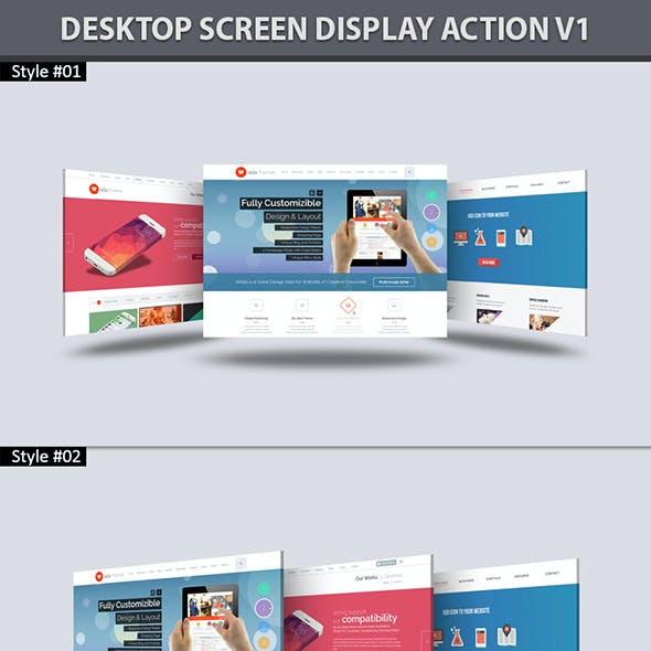 Desktop Screen Display Action V1