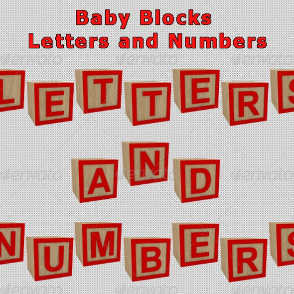 Baby Blocks Letters and Numbers