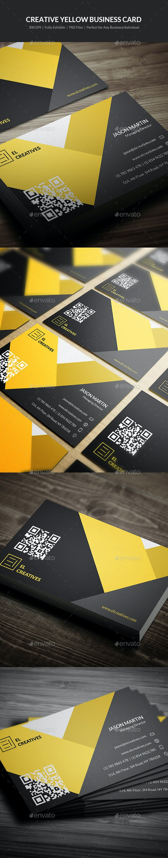 Creative Yellow Business Card - 10 - Creative Business Cards