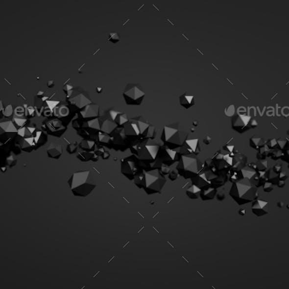 Abstract 3D Rendering Of Polygonal Spheres.