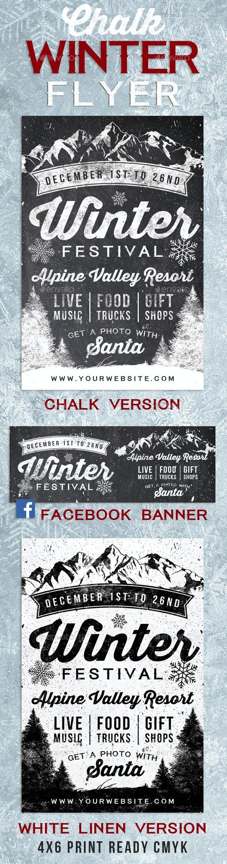 Chalk Winter Festival Flyer - Flyers Print Templates