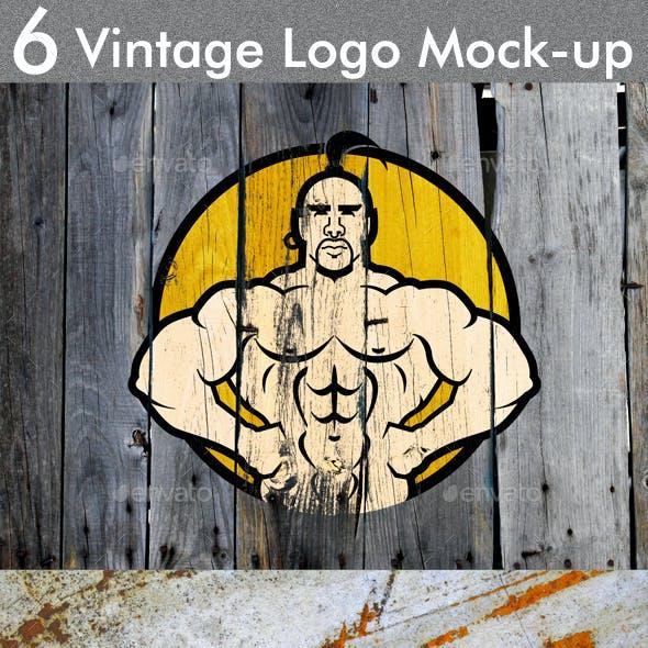 6 Vintage Logo Mock-up
