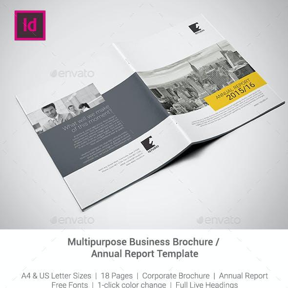 Corporate Brochure / Annual Report Template