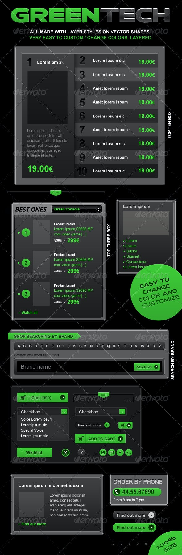 Green Future and VideoGame web elements - Miscellaneous Web Elements