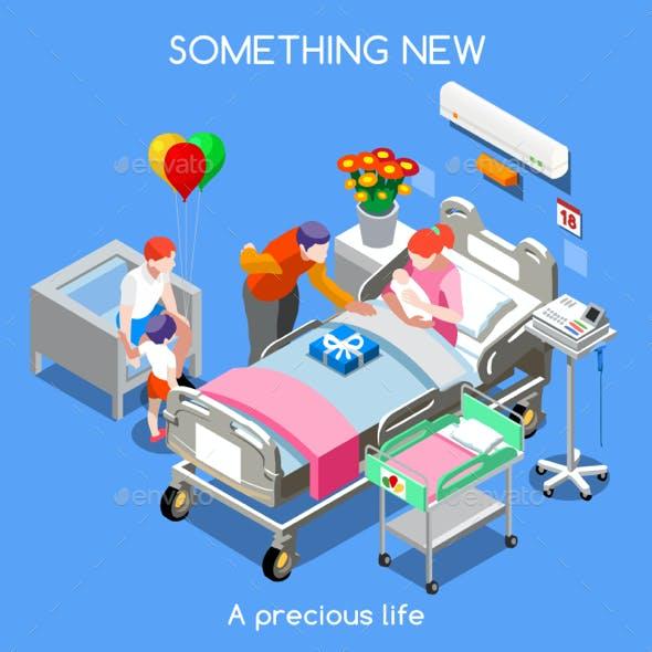 Hospital 12 People Isometric